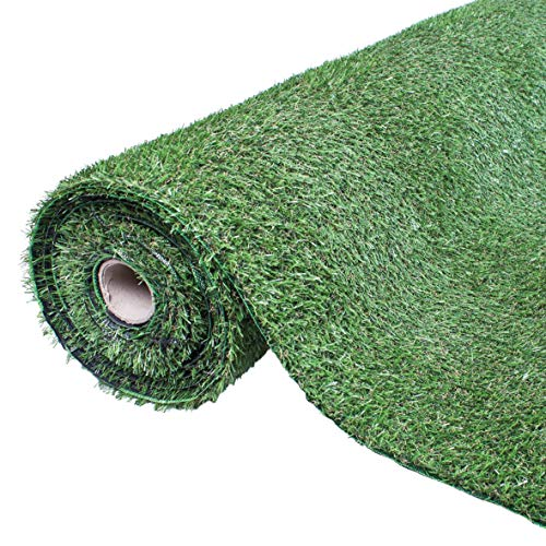 GardenKraft Césped Artificial – 4 m x 1 m – 15 mm de Grosor